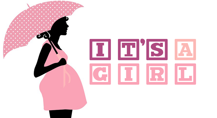 Itu0027s A Girl! (PLV) - Baby Shower Its A Girl PNG