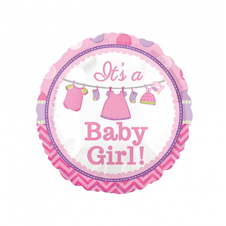 Its A Girl Baby Shower Foil Balloon - Baby Shower Its A Girl PNG