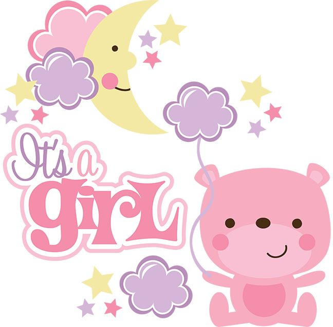its baby shower clip art · 520 best images about Images IV - Baby Shower Its A Girl PNG