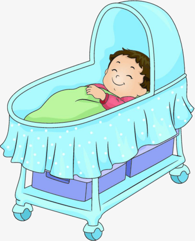 Baby sleeping in the crib, Baby Bed, Sleeping Child, Shuibaobao PNG Image  and - Baby Sleeping In Crib PNG