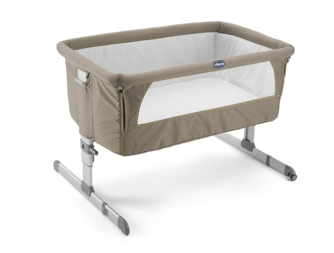 Chicco Next2me Crib - Baby Sleeping In Crib PNG