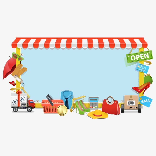 border transport supplies supplies, Convenience Store, Car, Articles PNG  Image and Clipart - Baby Toys PNG Borders