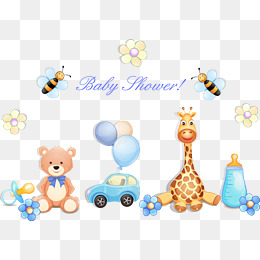 cartoon baby toys vector, Toy, Toy Car, Bear PNG and Vector - Baby Toys PNG Borders