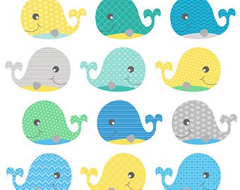 Baby whale clip art