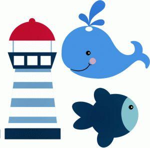 Baby whale whale clip art 4