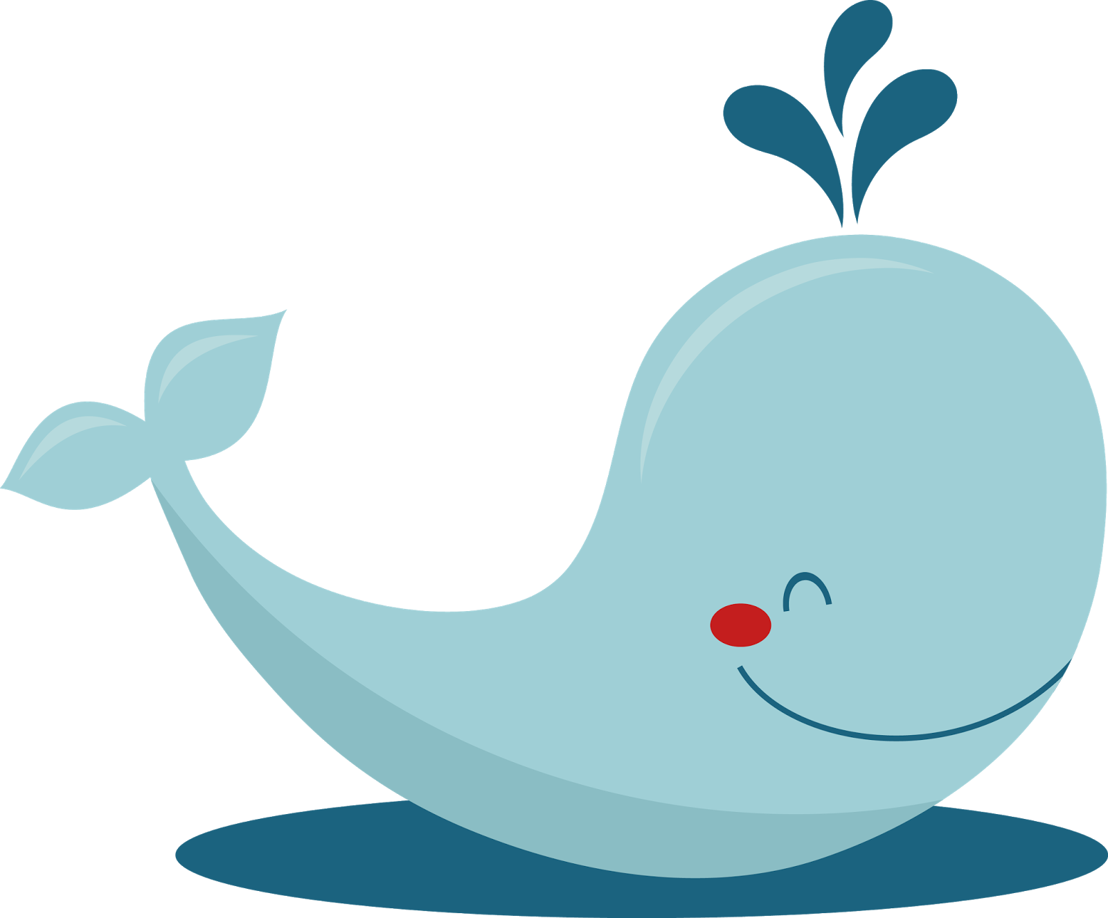 Mint Green Whale Clip Art