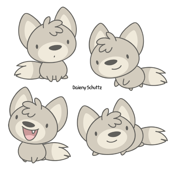 Baby Wolf by Daieny PlusPng.com  - Baby Wolf PNG