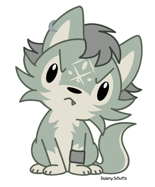 Chibi Wolf Link by Daieny PlusPng.com  - Baby Wolf PNG