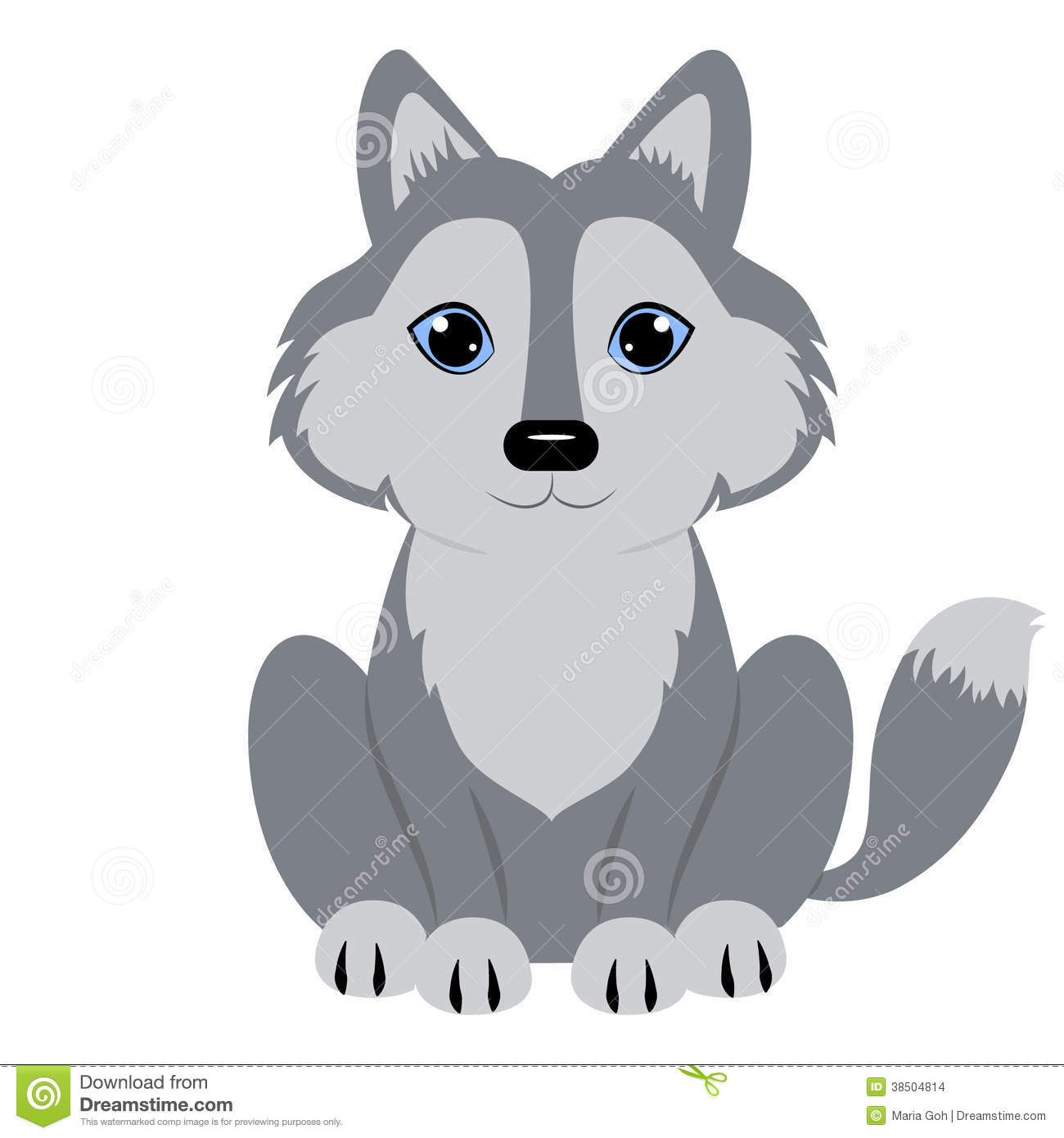 Photo about Illustration of Cute baby wolf cartoon - 43912845 - Baby Wolf PNG