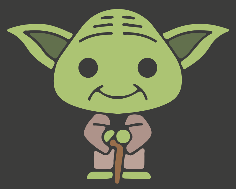 Clipart - Baby Yoda PNG