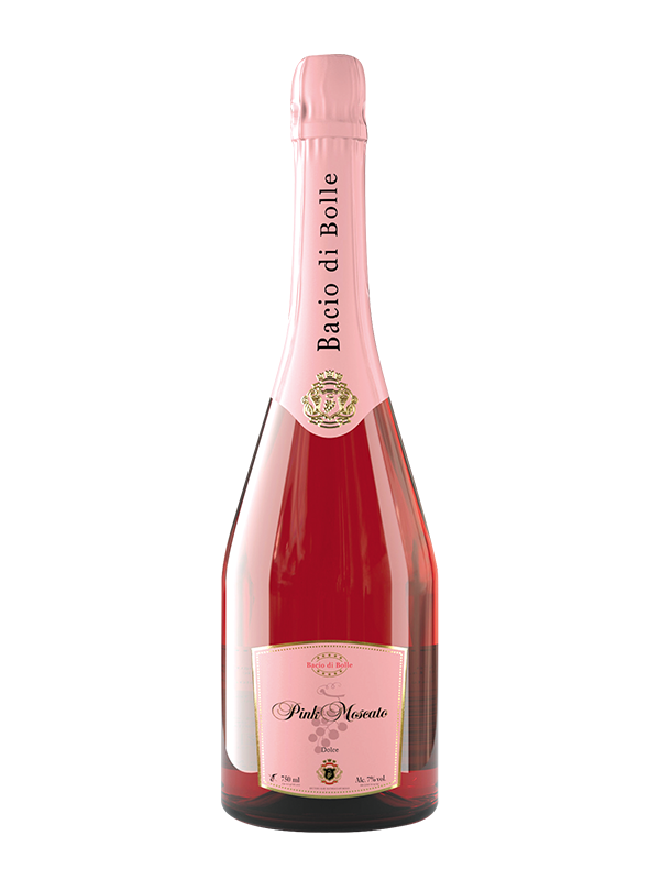 Bacio di Bolle Pink Moscato 0.75 l - Bacio PNG