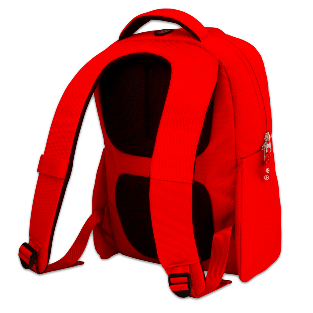 Red backpack PNG image