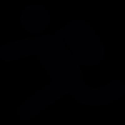 Backpacker running - Backpacker Logo Vector PNG