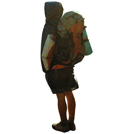 A cutout photo of a backpacking guy who is ready to take on the world. - Backpacker PNG