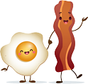 bacon and egg - Bacon And Egg PNG