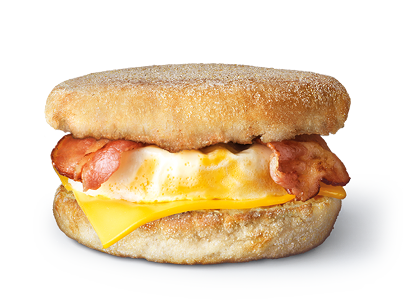 Bacon and Egg Mcmuffin.png - Bacon And Egg PNG