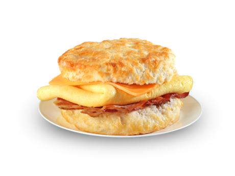 Bacon, Egg and Cheese Biscuit - Bacon And Egg PNG