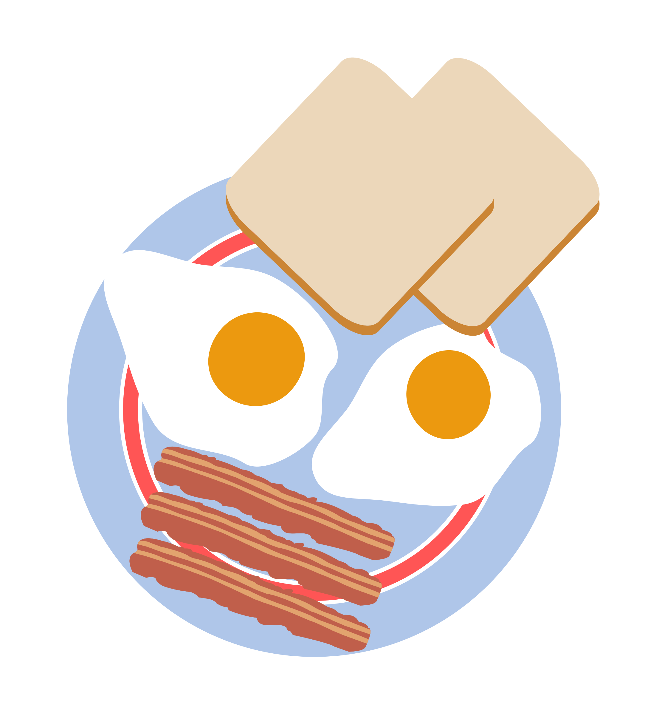 This free Icons Png design of Bullu0027s eye eggs with toast and bacon PlusPng.com  - Bacon And Egg PNG