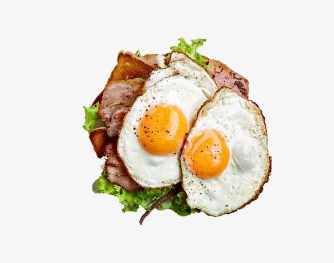 Two fried eggs and bacon HD photography, Bacon, Omelette, Egg PNG Image and - Bacon And Egg PNG