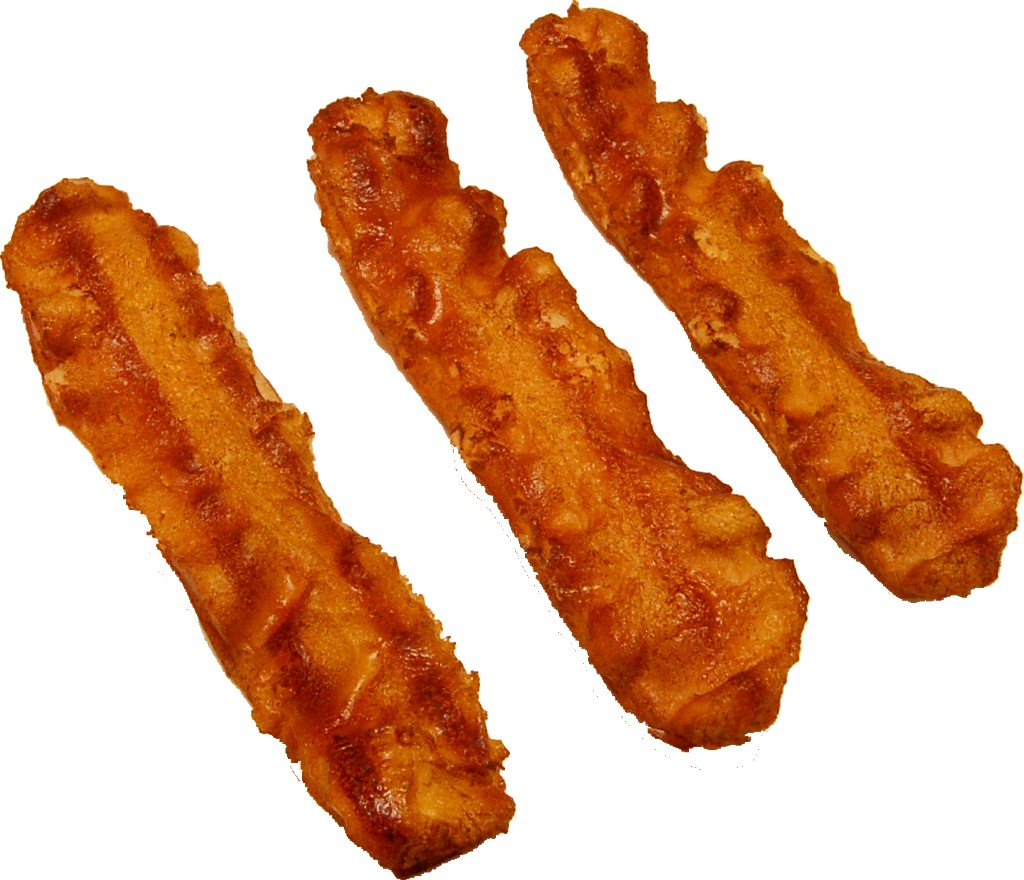 Bacon Strip 3 Piece Fake Food U.S.A. - Bacon Strips PNG