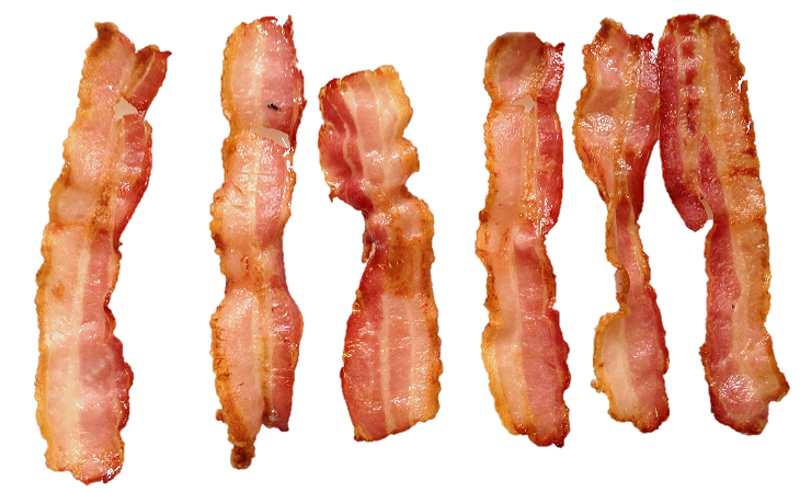 Cooking bacon in a spiral convection oven provides compelling advantages  over linear microwave ovens, creating products that look and taste like  they were PlusPng.com  - Bacon Strips PNG