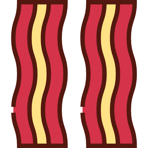 PNG SVG PlusPng.com  - Bacon Strips PNG