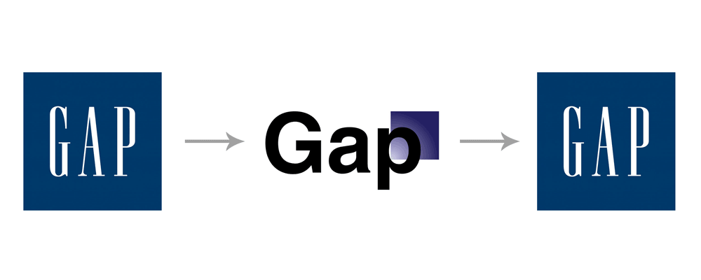 Gap clothing and fashion - Bad Design Logo PNG