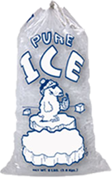 Ice Bags with Cotton DrawString - Bag Of Ice Cubes PNG