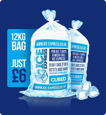 ice-express-ice-cubes-offer - Bag Of Ice Cubes PNG