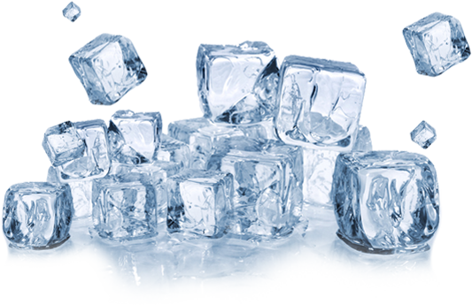 The Home City Ice Company - Bag Of Ice Cubes PNG