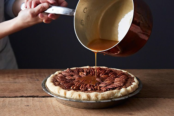 Community Pick Food 52: Salted Caramel Chocolate Pecan Pie - Baked Pie PNG