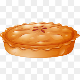 Vector hand painted, Vector, Hand Painted, Dessert PNG and Vector - Baked Pie PNG