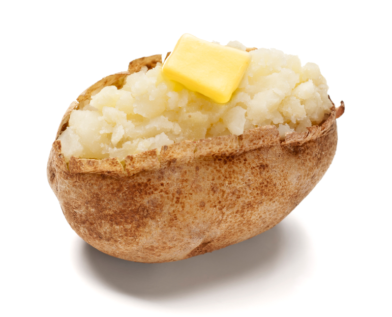 potato baked w butter iStock_000022444224Small - Baked Potato PNG HD