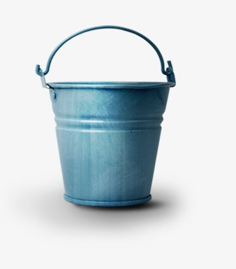 Hand-painted bucket, Blue Bucket, Bucket, Retro Bucket PNG Image and Clipart - Balde PNG
