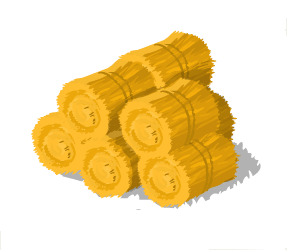 Small stack of Hay Bales.png - Bale Of Hay PNG