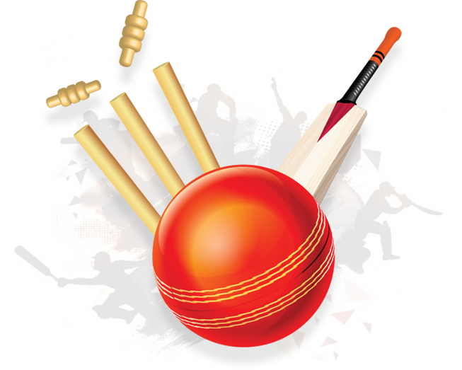 Ball, Bat u0026 Stump - Ball And Bat PNG