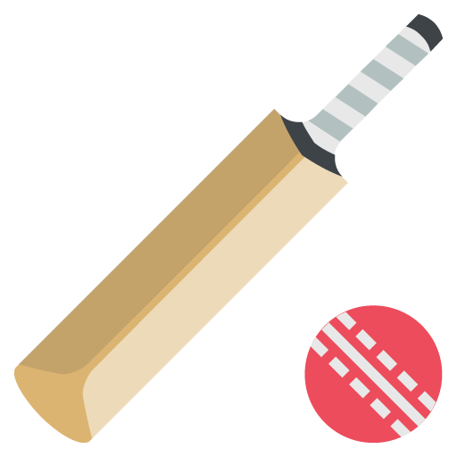 Cricket Bat And Ball Emoji - Ball And Bat PNG