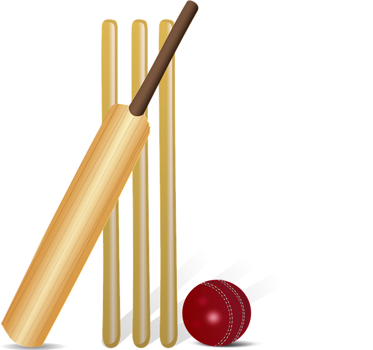 cricket cricket bat bat ball commonwealth game - Ball And Bat PNG