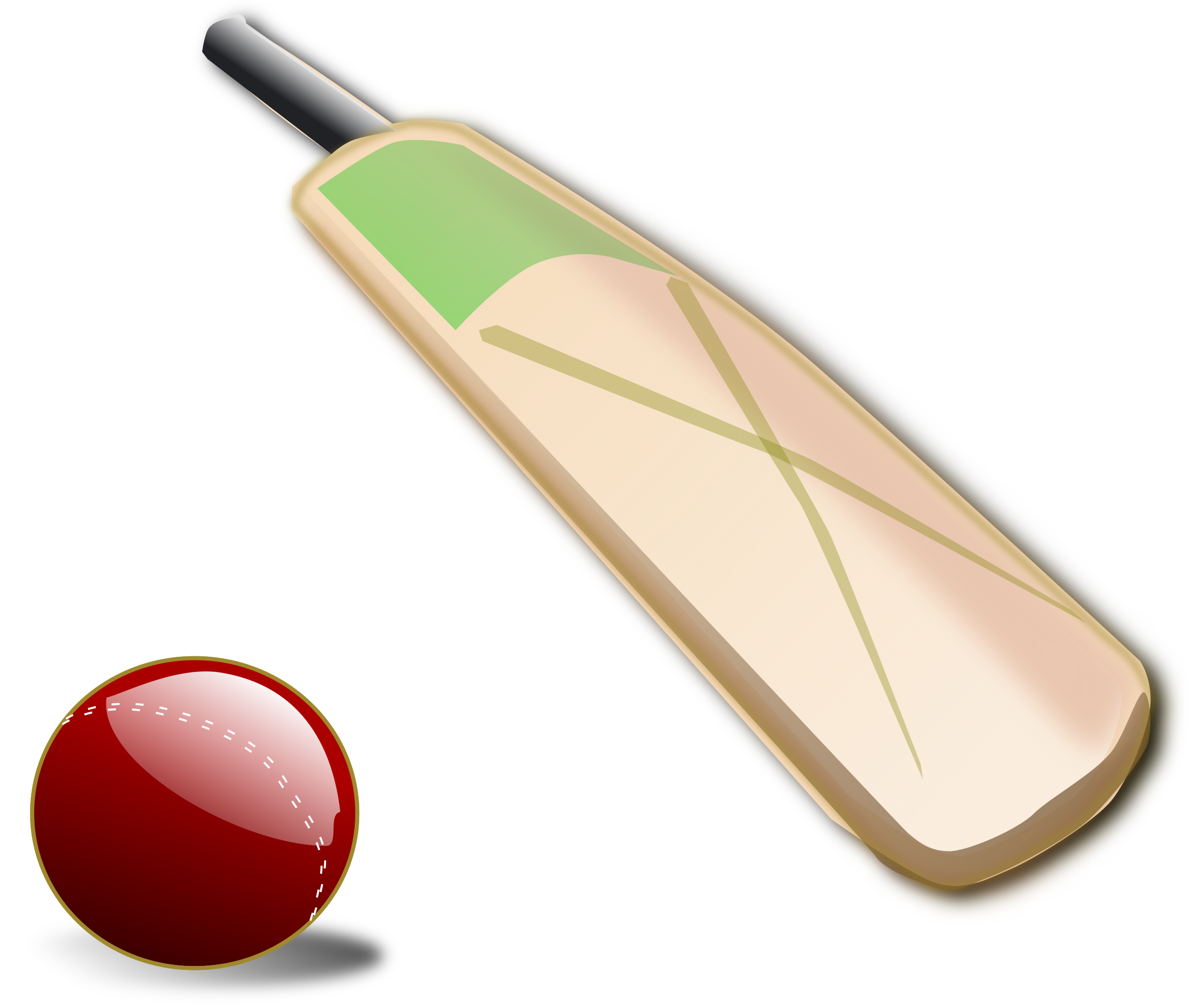 This free Icons Png design of Cricket ball and bat PlusPng.com  - Ball And Bat PNG