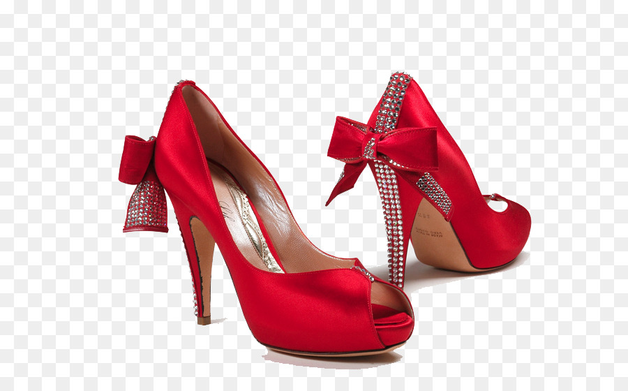 Shoe Bride Red High-heeled footwear Wedding - Female Shoes PNG HD - Ballet Shoes PNG HD