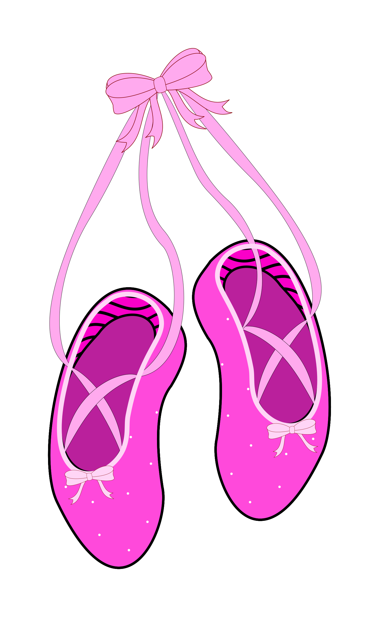 Ballet Shoes Clip Art - Clipa