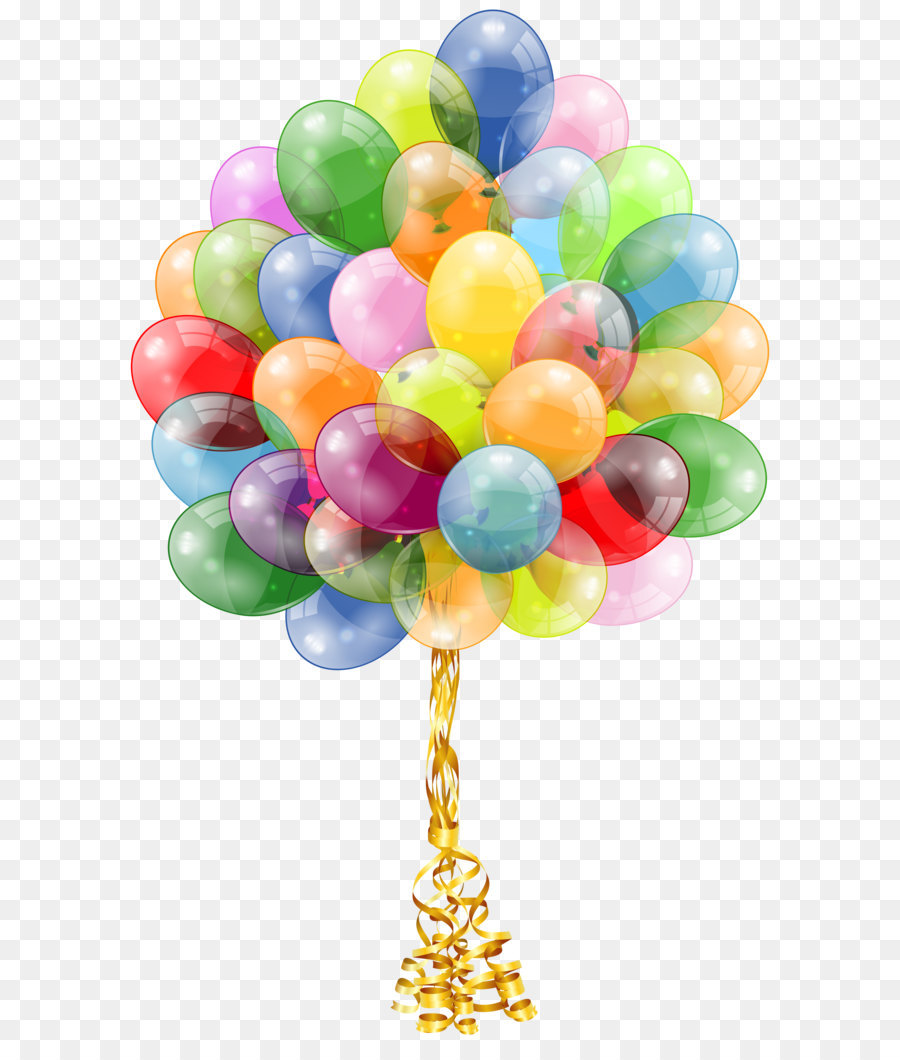 Balloon Birthday cake Party Gift - Transparent Balloons Bunch Clipart Image - Balloon Bunch PNG