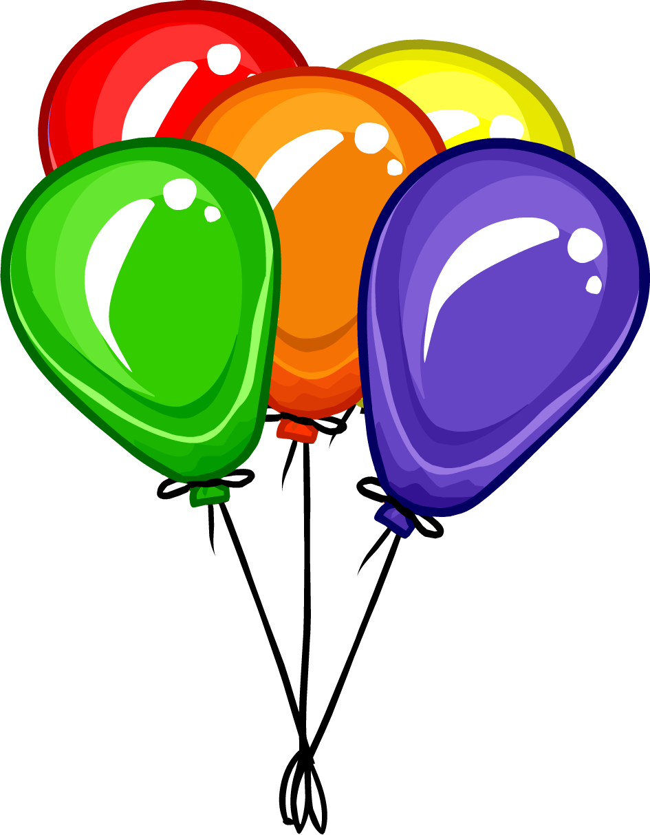 Bunch of Balloons PNG image