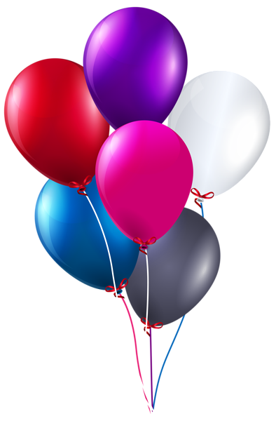 Colorful Bunch of Balloons PNG Clipart Image - Balloon Bunch PNG