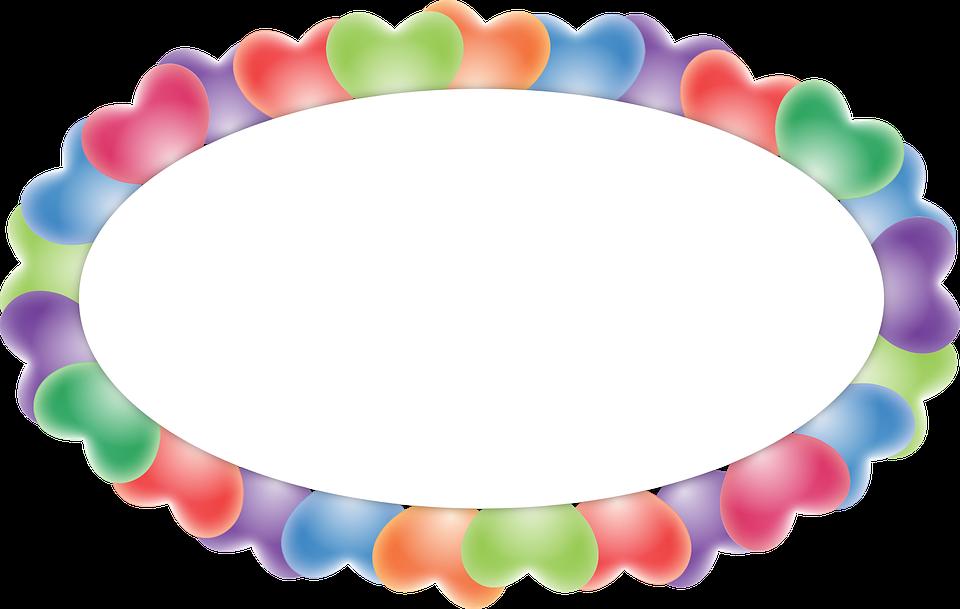balloon oval burst heart fram