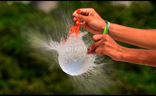 Water Balloon Burst by Dhvani Rajput - Abstract Water Drops u0026 Splashes (  experiment, burst - Balloon Burst PNG