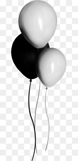 black and white balloons, Hand Painted, Toy, Balloon PNG Image and Clipart - Balloons Bunch PNG Black And White