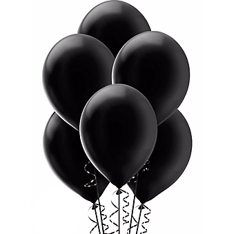 Black Balloon - Balloons Bunch PNG Black And White