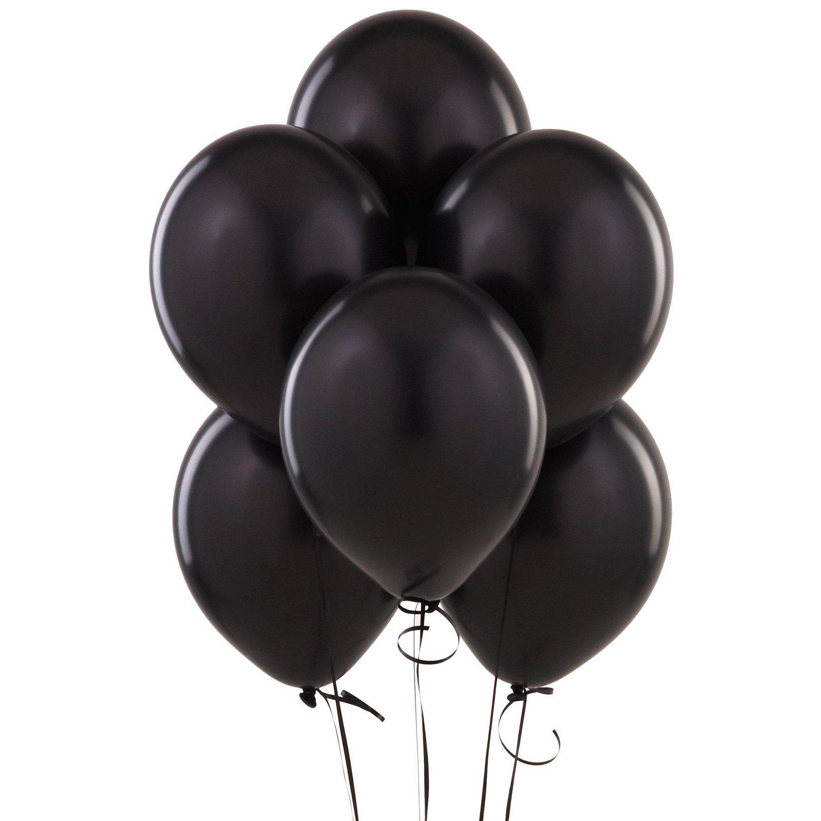 Black Balloon. White Balloon - Balloons Bunch PNG Black And White