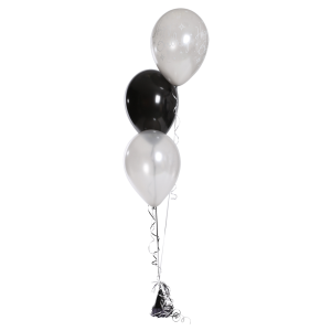 Bunch of 3 Latex Balloons - Balloons Bunch PNG Black And White